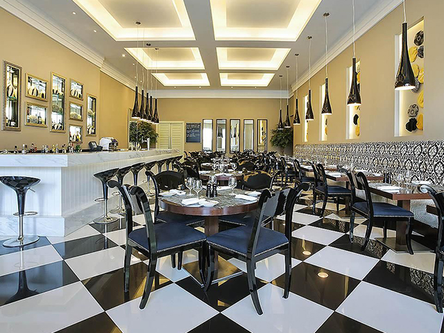 Inside Bistro Domino at Ibis Dubai City Centre Deira