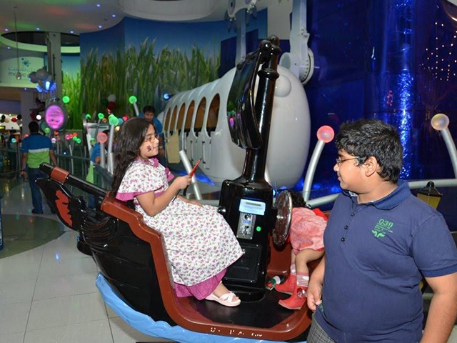 Kids at Magic Planet, City Centre Deira
