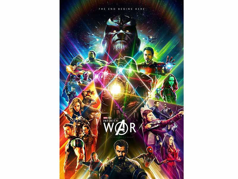 Avengers: Infinity War movie poster at Vox Cinemas in Dubai