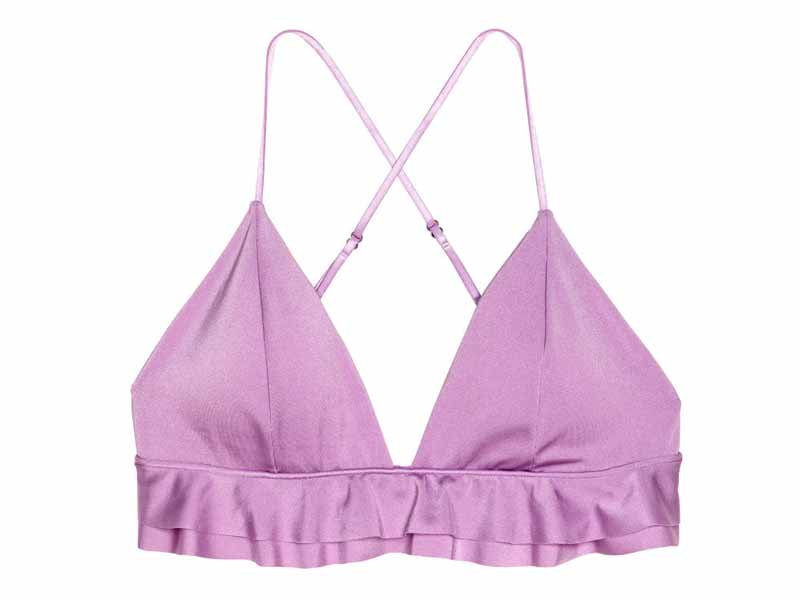 090ae765527 Lilac bikini top by H&M available at Mall of the Emirates and Majid Al  Futtaim City