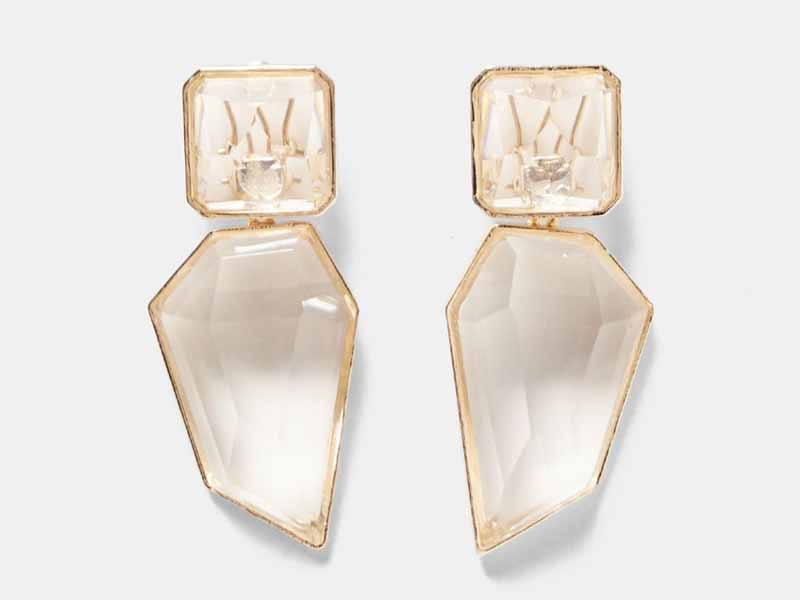 Dubai Zara's Clear stone earrings