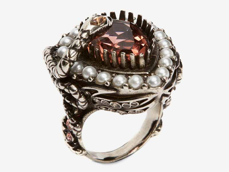 Metal and jewel ring, Dubai Alexander McQueen