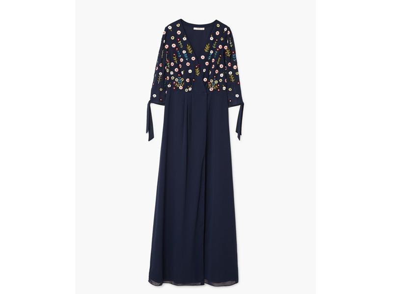 1d565260b فستان أزرق داكن مرصّع بالترتر من مانجو في مول الإمارات ومراكز سيتي سنتر