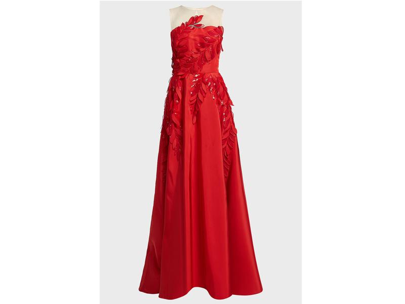 14f64d536 فستان أحمر أنيق من أوسكار دي لو رينتا في بوتيك 1 في مول الإمارات