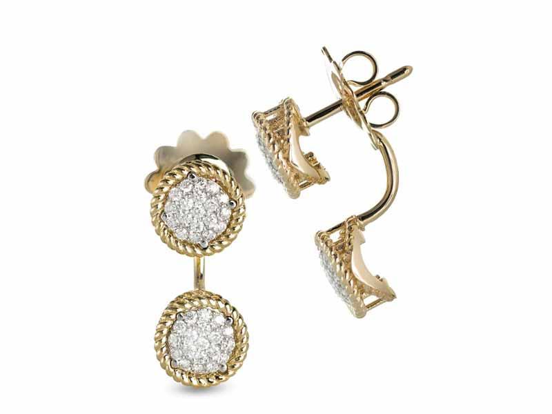 e7052e037dc42 أقراط مرصعة بالماس، من روبيرتو كوين، في مول الإمارات أو محلات مجوهرات داماس  بمراكز