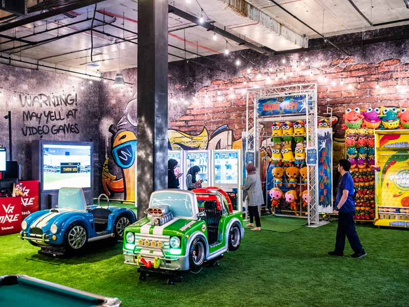 Gaming fans will love the arcades at INDOORS in Dubai
