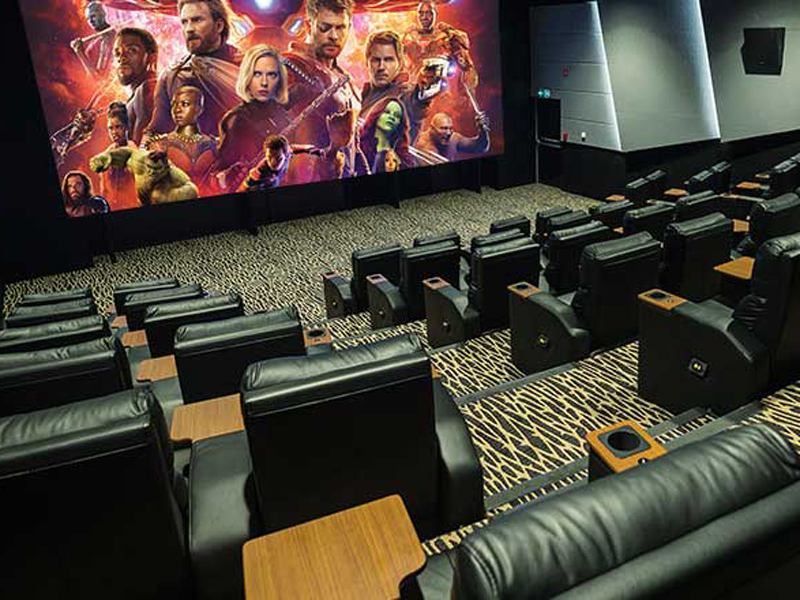 A movie theatre at VOX Cinema's GOLD by Rhodes inside City Centre Deira
