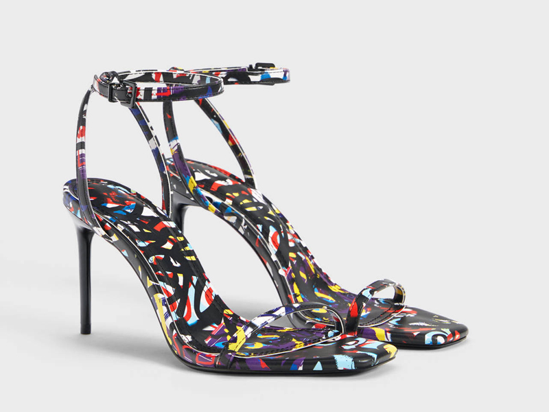 Graffiti print high heels Bershka, available at City Centre Deira