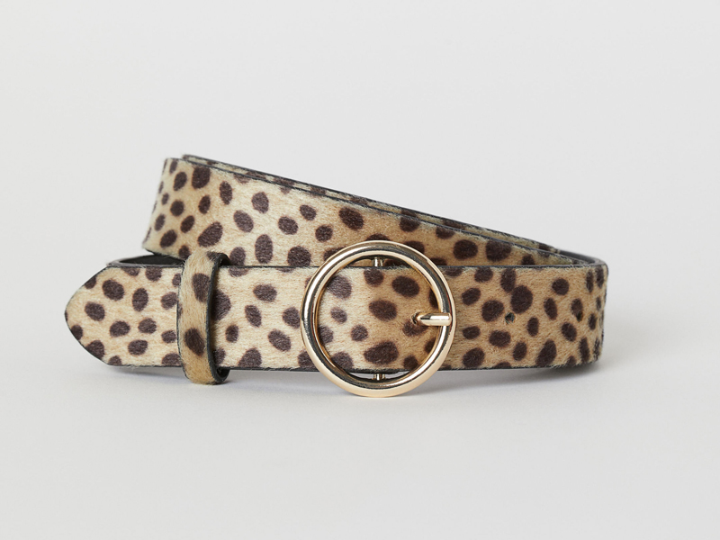 Leopard print buckle belt by H&M, available at City Centre Deira