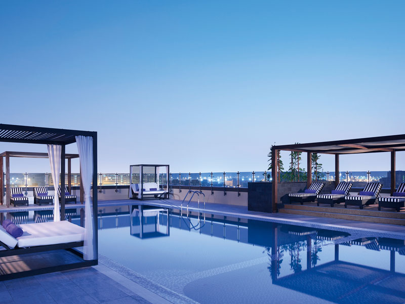 Azure Pool Lounge at the Pullman Deira City Centre