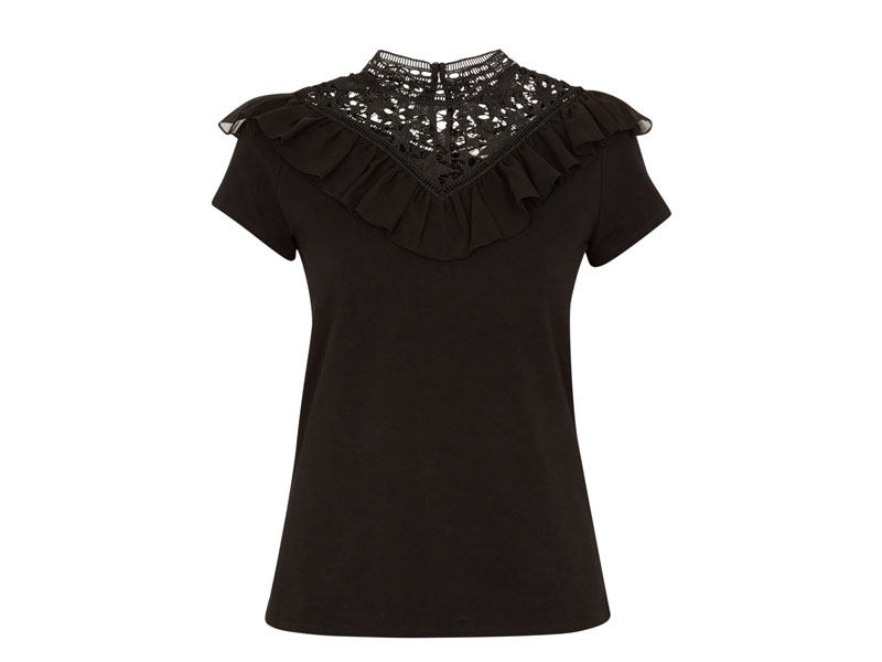 Black lace top by Ted Baker, available at Mall of the Emirates and City Centres