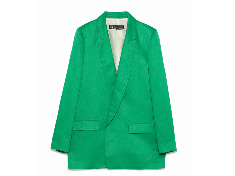 Green tailored blazer by Zara at City Centre Deira