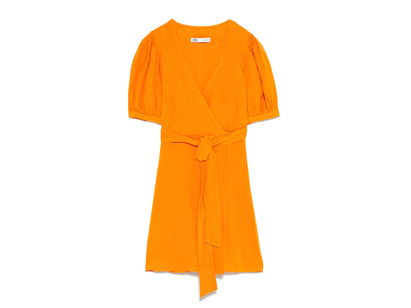 Ladies' dress in orange linen by Zara at City Centre Deira