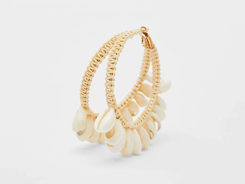 Seashell hoop earrings by Bershka at City Centre Deira