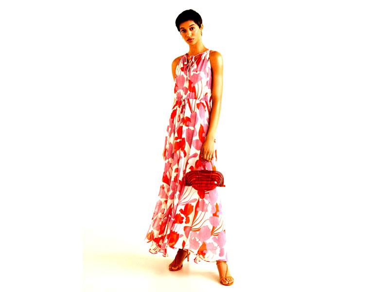 65e51cce5 فستان زهري مزدان بالورود المطبوعة، من مانجو، في مراكز سيتي سنتر للتسوق