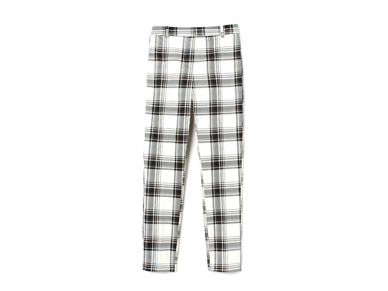 Black and white check print trousers by H&M, available at City Centre Deira