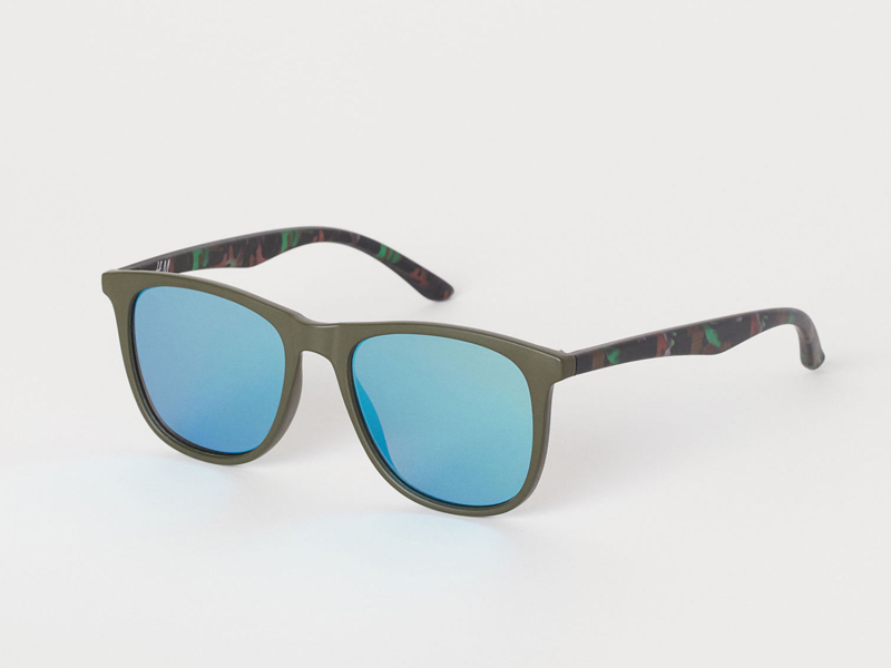 Blue and green sunglasses for men by H&M available at City Centre Deira