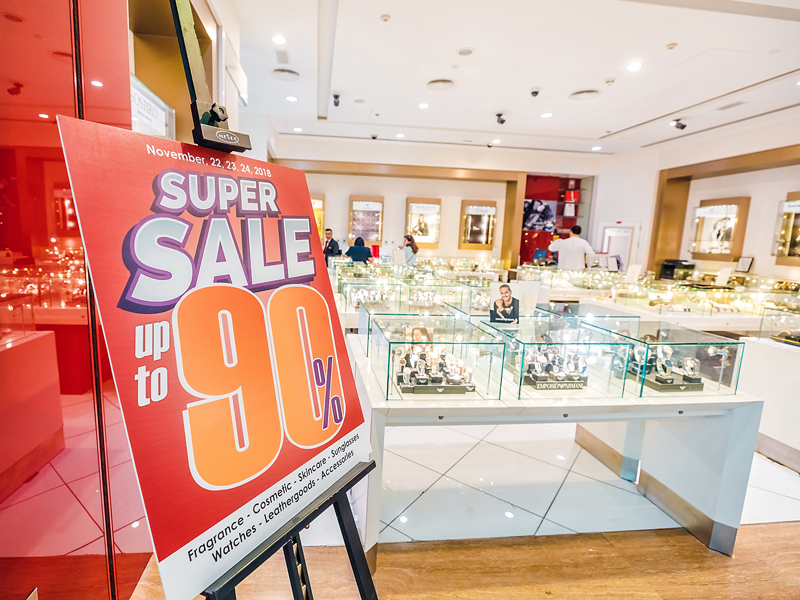The Super Sale at a watch and jewellery store in City Centre Deira