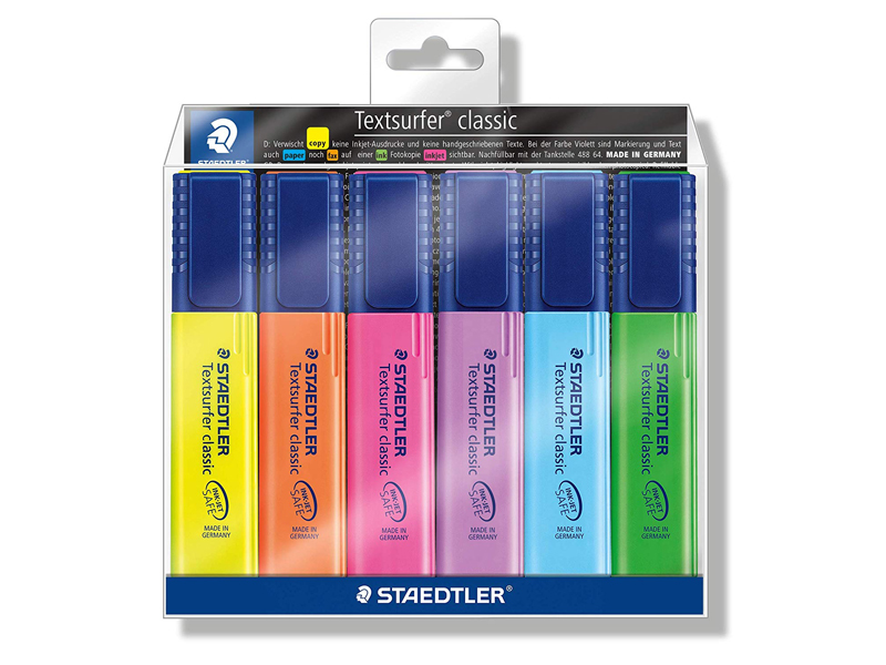 Staedtler highlighters six-pack from Borders at City Centre Deira