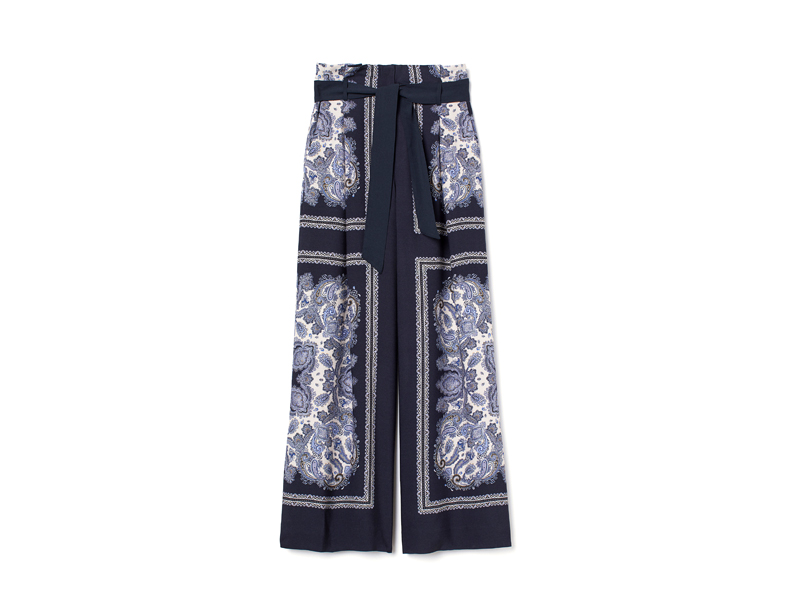 Wide-leg printed trousers by H&M available at City Centre Deira