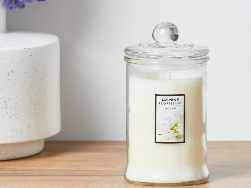 Jasmine scented candle jar by Home Centre, available at City Centre Deira