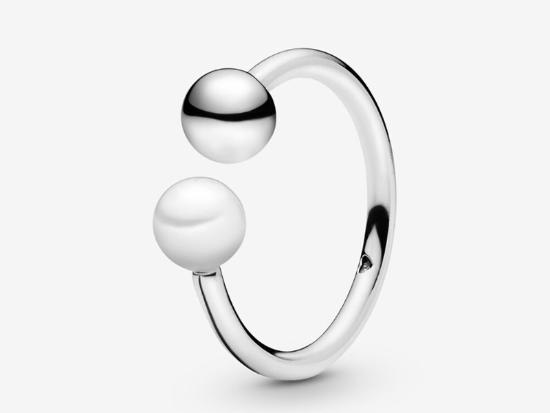 Pearl open ring by Pandora, available at City Centre Deira