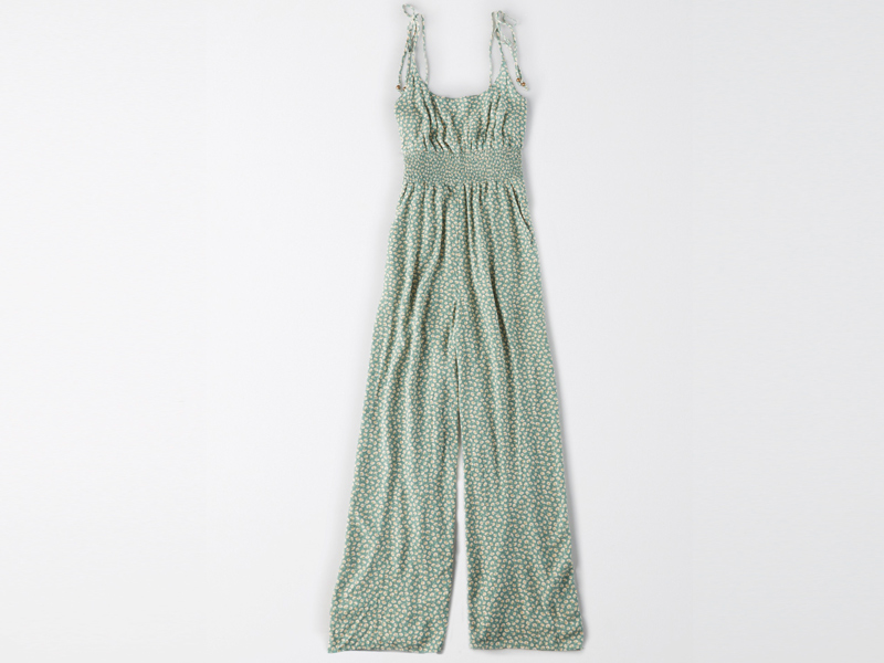Green flower print jumpsuit by American Eagle at City Centre Deira
