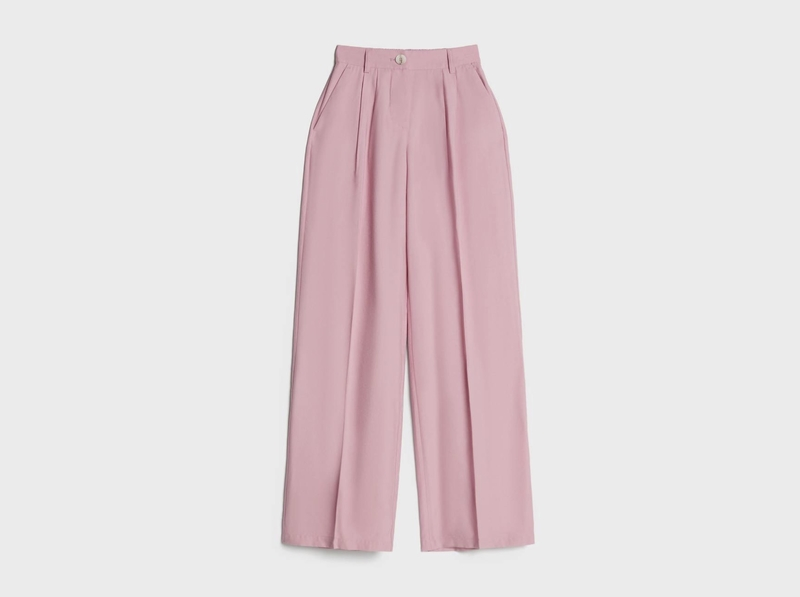 Pink wide-leg trousers by Bershka at City Centre Deira