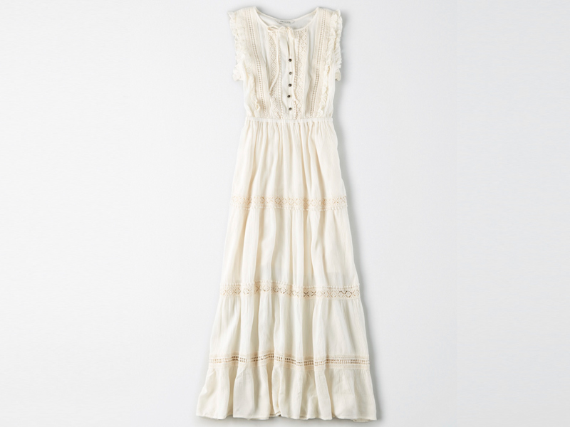 Lace Trim Maxi Dress by American Eagle, visit City Centre Deira