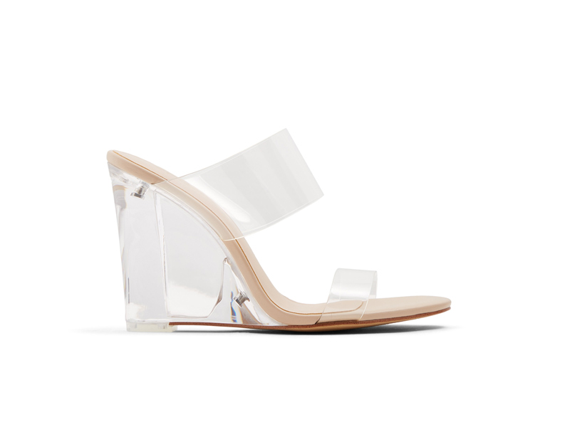 Clear Perspex wedges by ALDO at City Centre Deira