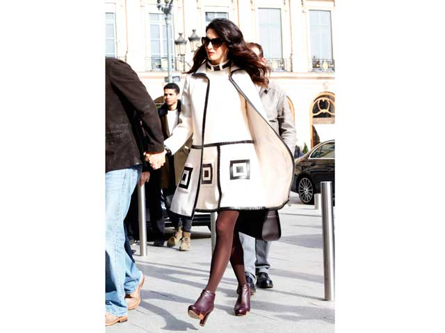 29a1f014a39 Amal Clooney is the epitome of elegance in this monochrome outfit