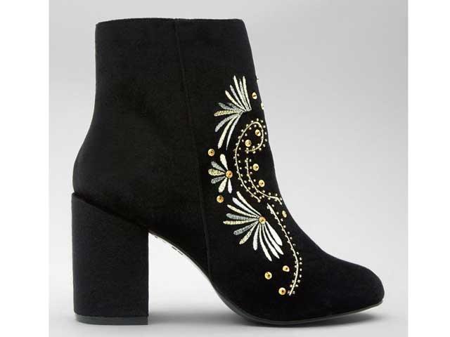 766e1cb03 حذاء كاحل مخملي من متجر نيو لوك، متوفر في مراكز تسوق سيتي سنتر