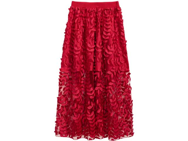 Embroidered skirt available at H&M
